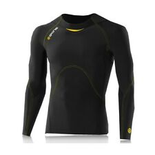 Skins Mens Bio A400 Compression Running Top Black Sports Breathable