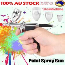0.3mm 0.5mm 0.8mm Gravity Paint Spray Gun Airbrush Nozzles Cups Set Kit AU