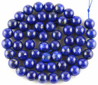 Lots Natural Lapis Lazuli Stone Round Spacer Loose Beads Jewelry Findings 4-10MM