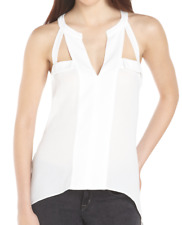 BCBG Max Azria White Avalyn Cut Out Tank Top Sleeveless Small
