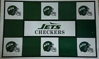 NFL Checkers New York Jets vs Miami Dolphins Draughts Board Game Helmets 1993