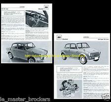 MITSUBISHI 500 Super De Luxe / Colt de Luxe   - Fiche auto collection