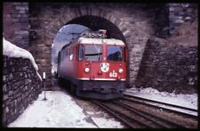 35mm slide+© RhB Rhätische Bahn Ge 4/4 II 613 Val Bever Switzerland 1987original