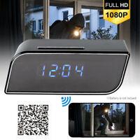 Spy Camera Clock WiFi Hidden Wireless Night Vision Security Nanny Cam HD 1080P.
