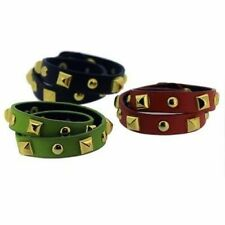Unbranded Leather Bronze Costume Bracelets