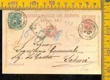 Regno Umberto cartolina postale risposta con francobollo 5cent. a591