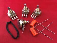 Guitar Wiring Kit for Gibson Epiphone Les Paul Short Shaft Pots Orange Drop Cap