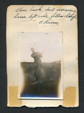 1930 LEO DIEGEL + Vintage Golf Autograph Sheet with Vintage Photo