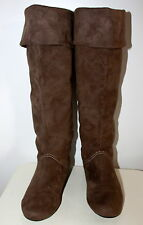 Rock and Doll faux suede knee high  flat boots women Eur 38 US-Aus 7 UK 5 Used