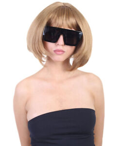 Adult Size Casual Gold Bob for Cosplay Anna Wintour Party Costume Hair HW-1638A