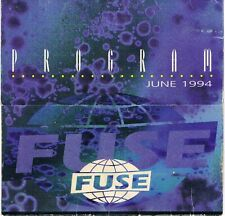FUSE Rave Flyer Flyers 4/6/94 A6 Brussels Belgium