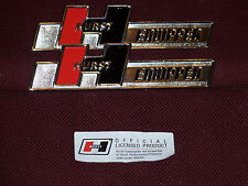 BUICK PONTIAC OLDS HURST EQUIPPED EMBLEMS NEW OLDSMOBILE 442 GTO GS BADGE PAIR