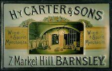 HY. Carter & Sons Wine Spirit Blechschild Schild 3D geprägt Tin Sign 20 x 30 cm