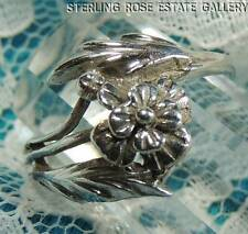 YOUNG LADIES BUTTERCUP FLOWER STERLING SILVER 925 ESTATE RING size 5.5