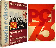 CAPANNA Monopoli DC compromesso storico + PCI 73 Almanacco del partito Comunista