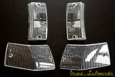 VESPA - SET Blinkerglas E-NUMMER - Weiß - PX / Lusso / T5 - Kit Blinker komplett