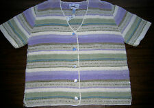 NORTHERN ISLES II Portraits Multicolor Sweater ~ Knitted by Hand 1X ~ NWT