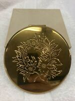 Vtg 1950s Collectible DORSET 5TH AVENUE Makeup Compact w/ Screen Puff NEW YORK