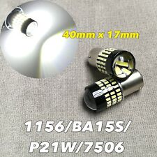 Backup Reverse Light 1156 BA15S 7506 3497 P21W SMD LED Bulb 6000K White W1 GM A