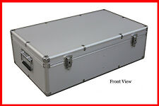 Silve Multiple use Aluminum Storage and Carrying Case For DVD Blu-Ray hardware
