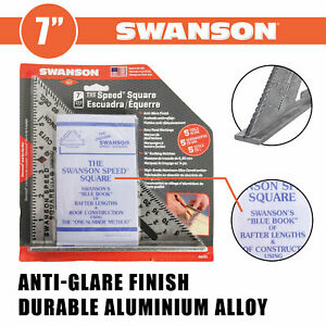 Swanson S0101 7 Inch Speed Square Imperial Measure Roofing Rafter Square