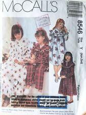 McCalls Pattern 8546 Toddler & Girls' Nighgowns - Sizes 2 - 6 Uncut UNUSED