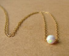 Opal necklace, opal ball necklace,fire opal necklace, opal jewelry, mother gift