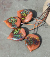 Clay Raku - Handmade Glass Lampwork Headpins SRA MTO - Choose Shape