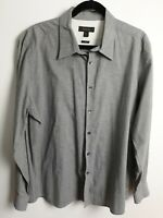 Country Road Men's Light Grey Long Sleeve Shirt Size XXL