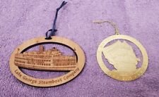 wood Lake George Steamboat Company Christmas Ornament with extra ornament