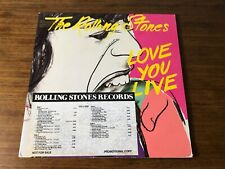 THE ROLLING STONES LOVE YOU LIVE ORIGINAL FIRST PRESS PROMO LP WITH TIMING STRIP