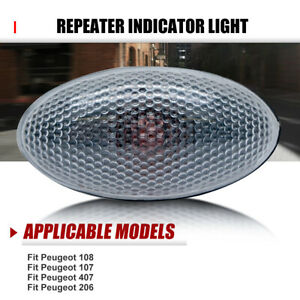 For Peugeot 206 407 307 607 Partner Side marker Light Repeater Indicator Lamp AU