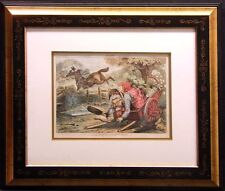 "Puck Photogravure Art Make an Offer ""A Pointer"" for John Kelley  with new frame"