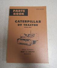 Caterpillar Cat D9 Tractor Parts Catalog Manual 34A 34A793 1967