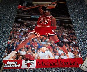 """Michael Jordan """"Power Slam 90″ Sports Illustrated Poster (1990) - Never Opened!"""
