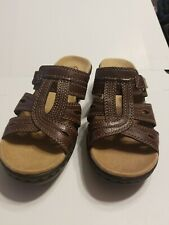Clarks brown leather sandals size 7