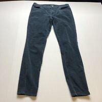 Loft Modern Skinny Teal Blue Green Corduroy Pants Sz 8 A1897