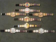 8 ECW Custom Wrestling Figure Belts WWE WWF NXT WCW (Action figure not included)