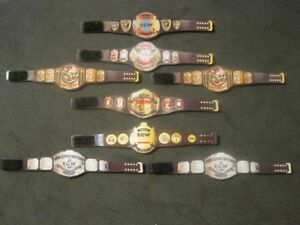 8 ECW Custom Wrestling Figure Belts WWE WWF NXT WCW (Action figure not included)