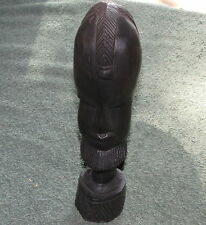 Vintage African Tribal Statue Bust Male Warrior Wood