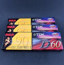 TDK D60 Minutes ~  RCA 90 Minute Cassette 3 of Each - Total of 6 Cassettes