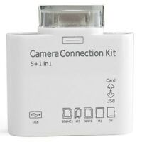 5 in 1 Camera Connection Kit USB SD TF Card Reader For 30 Pin iPad 1 2 3