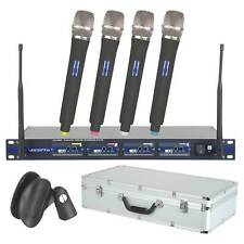 NEW VocoPro UHF-5800 900MHz 4-Channel UHF Wireless Microphone System with Case
