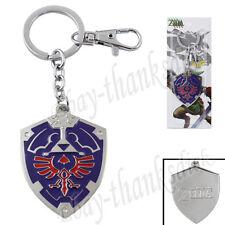 The Legend of Zelda Ocarina of Time Shield Logo 14cm Metal Key Ring Chain NIB