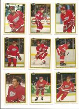1990-91 Bowman Detroit Red Wings Complete Hockey Team Set (12 Diff)
