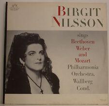 """BIRGIT NILSSON SINGS BEETHOVEN WEBER AND MOZART WALLBERG 12"""" LP (g822)"""