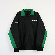 Vintage Black & Green Eddie Stobart Spell Out Bomber Jacket Big Logo | Small