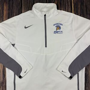 Nike Golf Mens Large SJSU San Jose State 1/4 Zip Windbreaker PulloverJacket