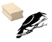 Motivstempel « KRÄHE » Motiv Stempel Scrapbooking Halloween Vogel Hexe Herbst