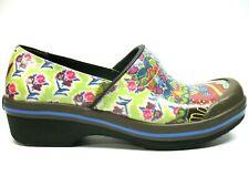 Dansko Multicolor Floral Design Slip Resistant Nursing Clogs EU39 US 8.5-9